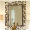Hooker Furniture Mélange Rectangular Beveled Fretwork Mirror