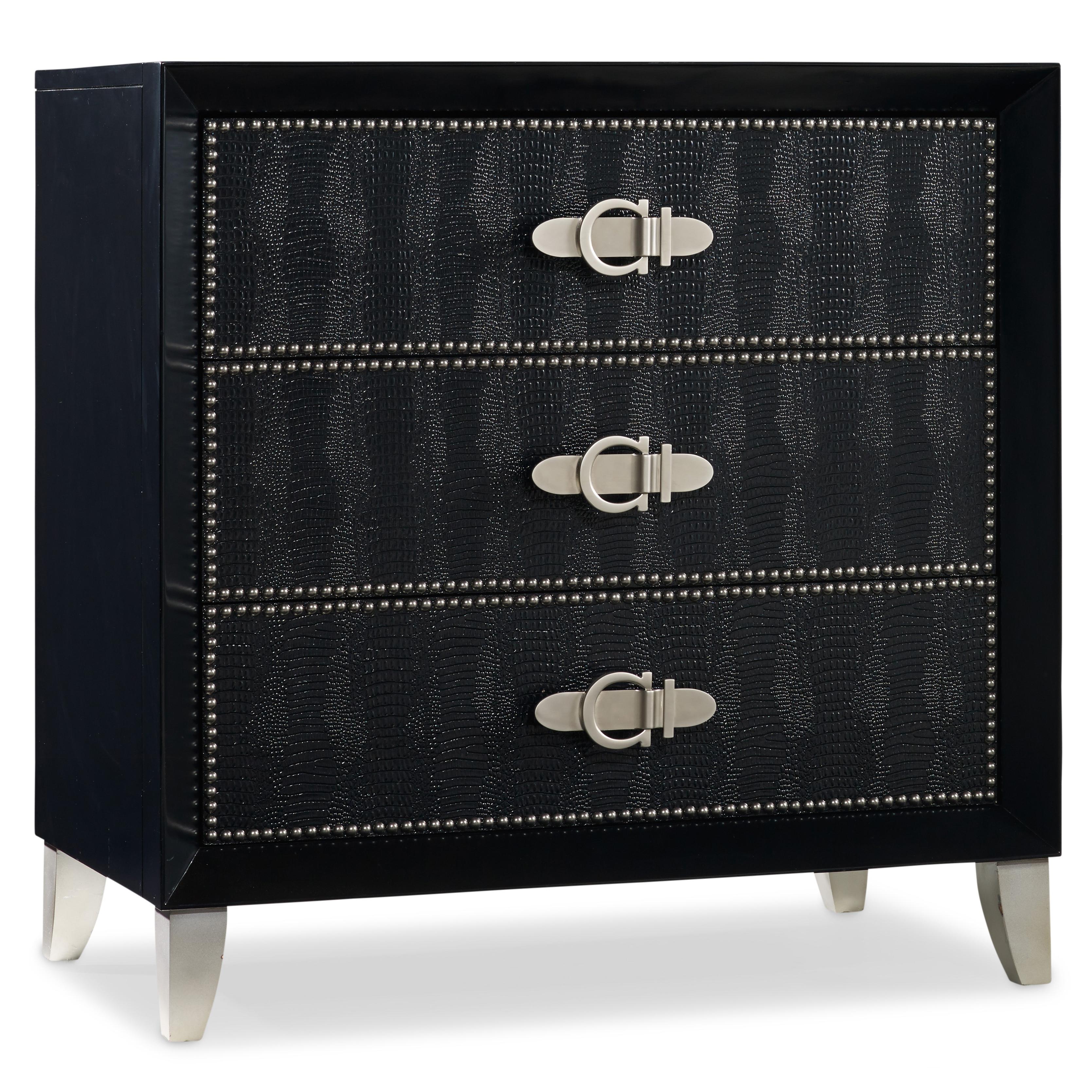 Hooker Furniture Mélange Ebony Croc Chest - Item Number: 638-50114