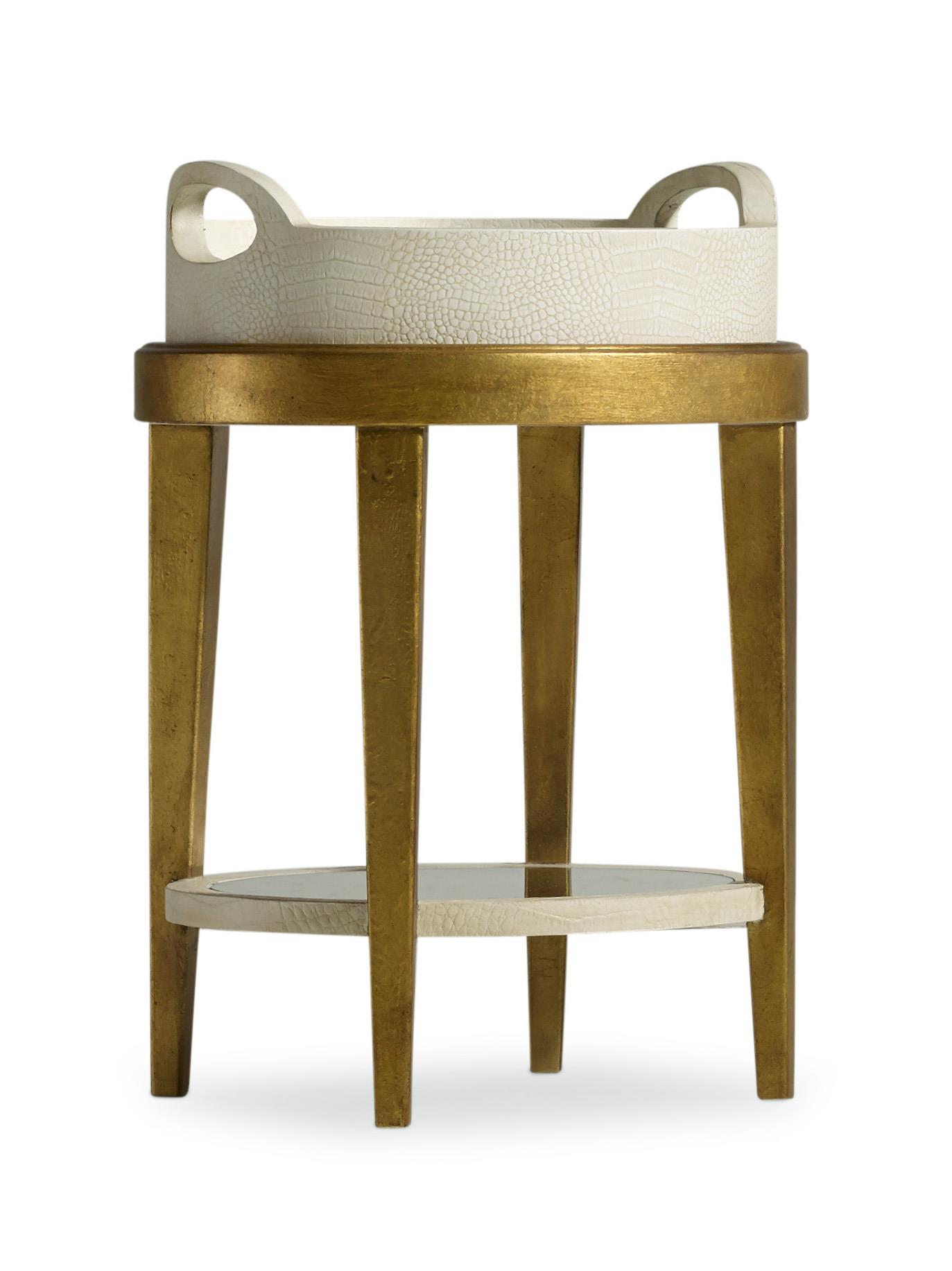 Hooker Furniture Mélange Gilded Accent Table - Item Number: 638-50136