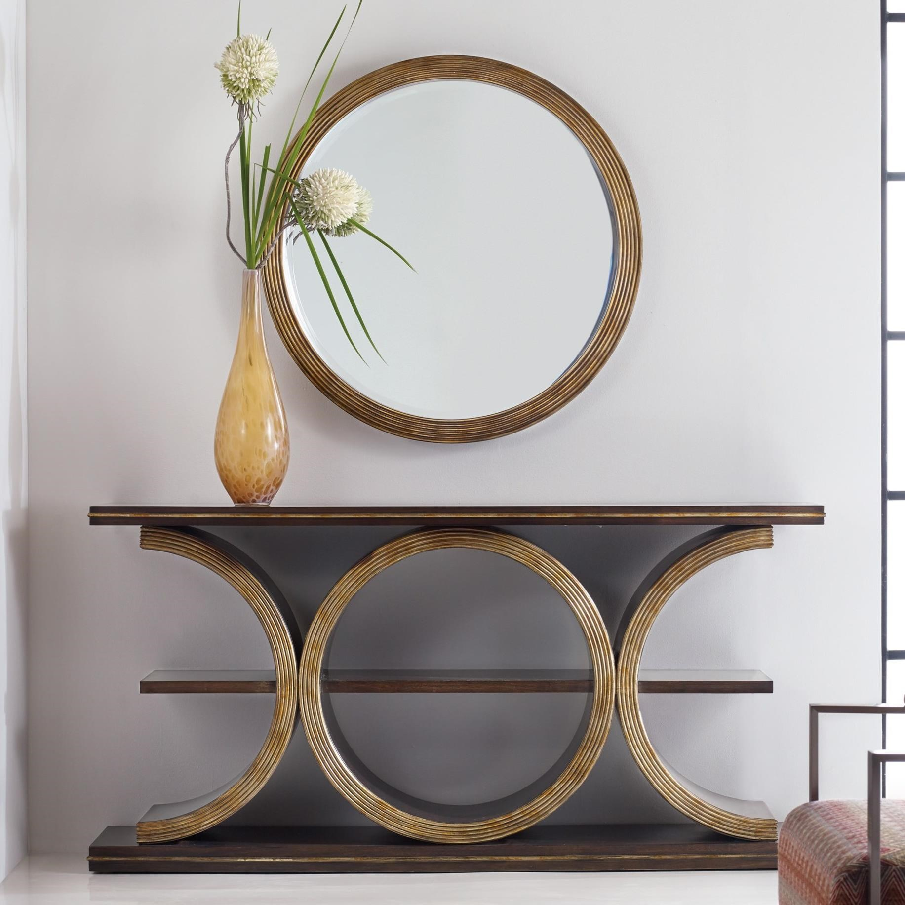 Hooker Furniture Mélange Presidio Console Table and Mirror Group - Item Number: 638-50263