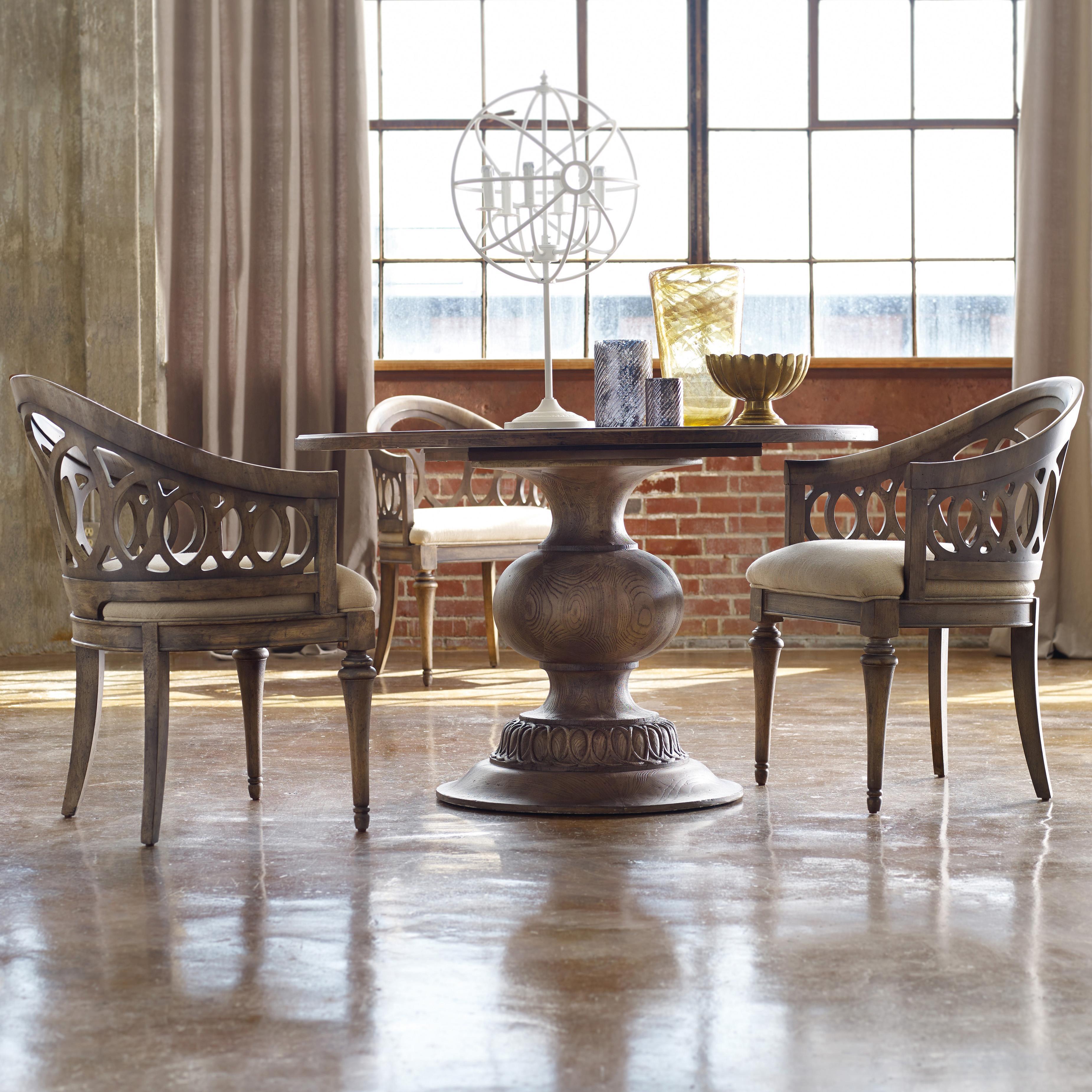 Hooker Furniture Mélange 3 Piece Cambria Dining Set - Item Number: 638-75004+2x5