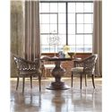 Hooker Furniture Mélange Cambria Round Pedestal Table with Circle Motif