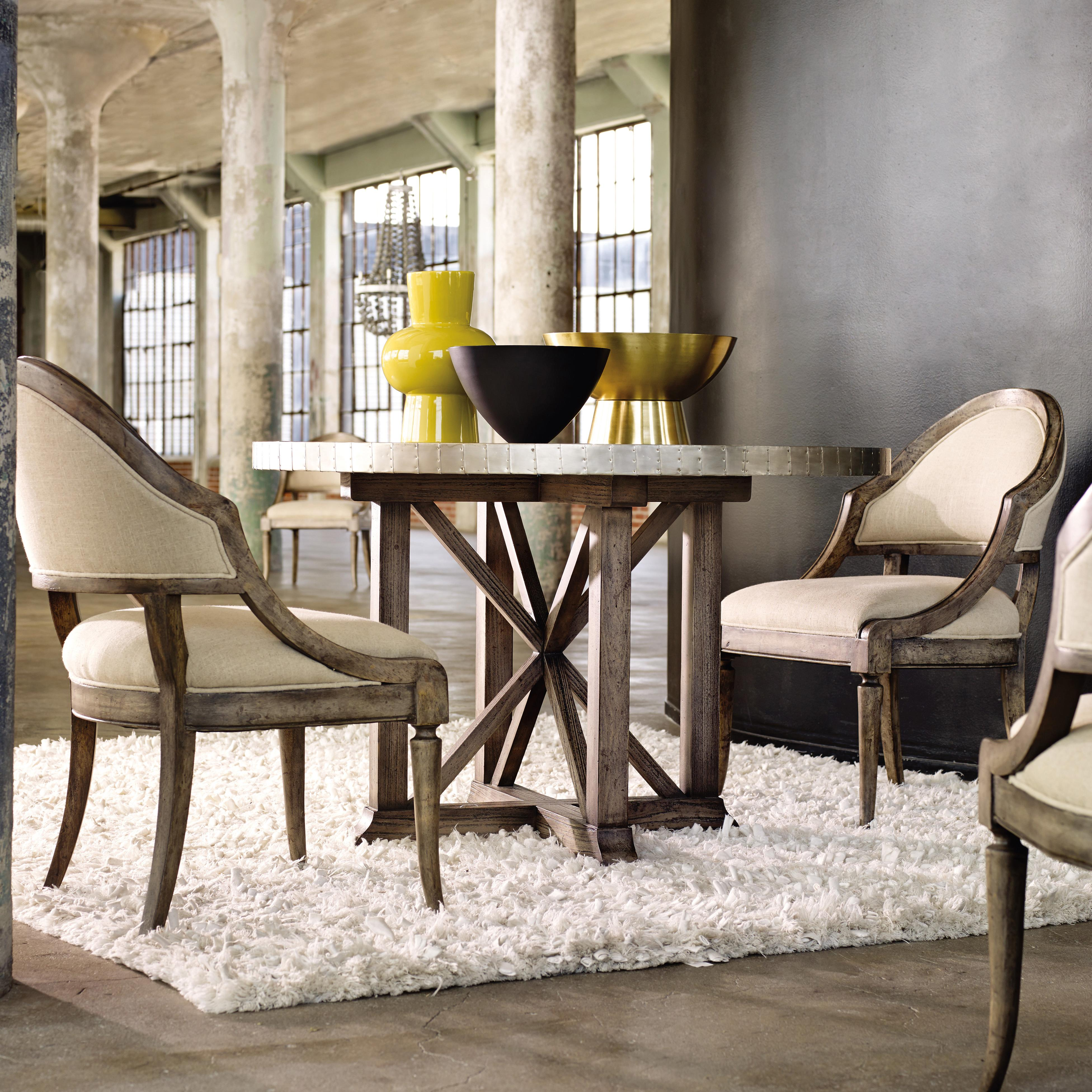 Hooker Furniture Mélange 3 Piece Bentley Dining Set - Item Number: 638-75009+2x13