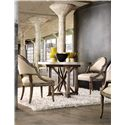 Hooker Furniture Mélange Bentley Dining Table with Aluminum Wrapped Top