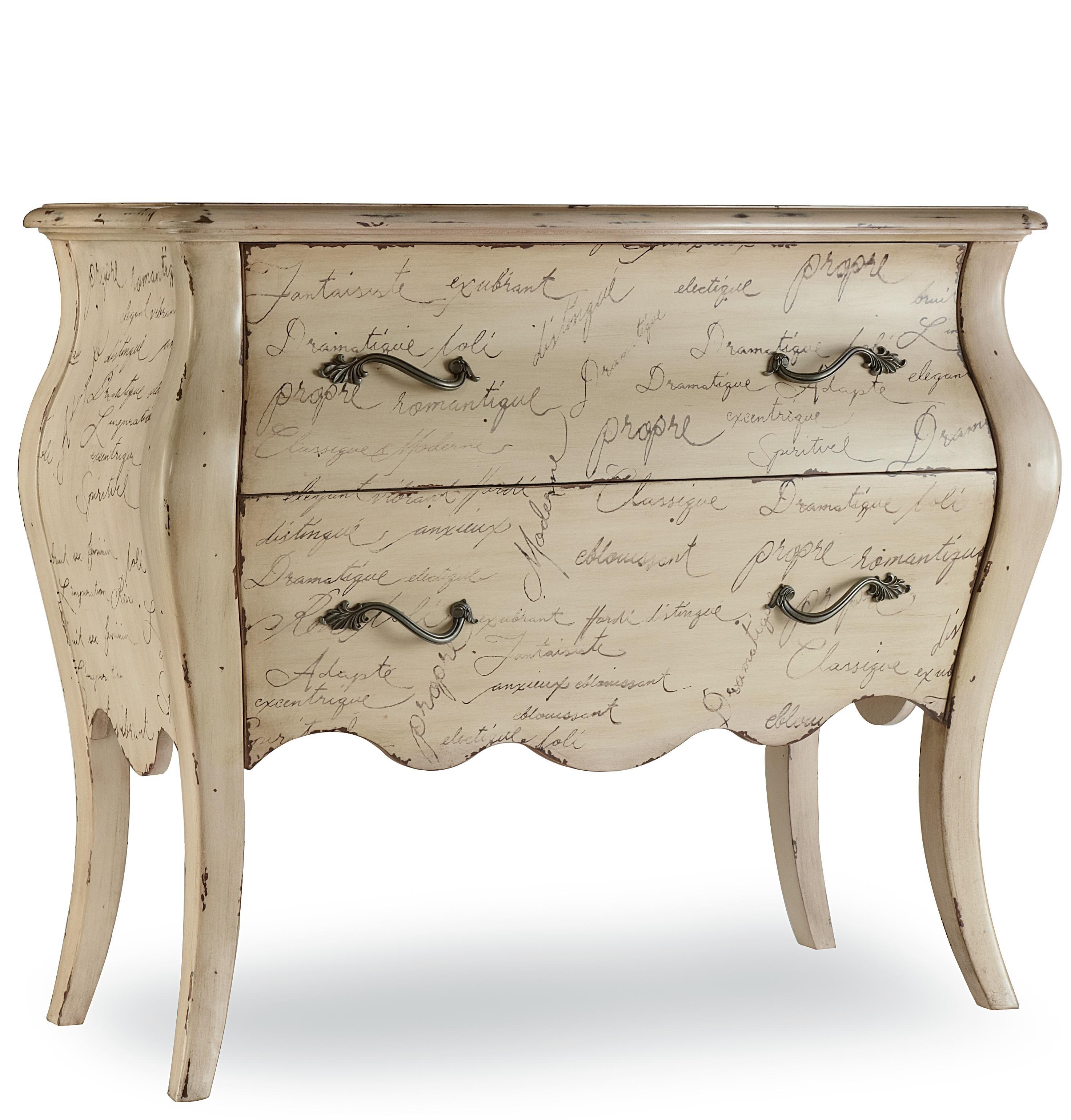 Hooker Furniture Mélange L'Inspiration Script Chest - Item Number: 638-85006