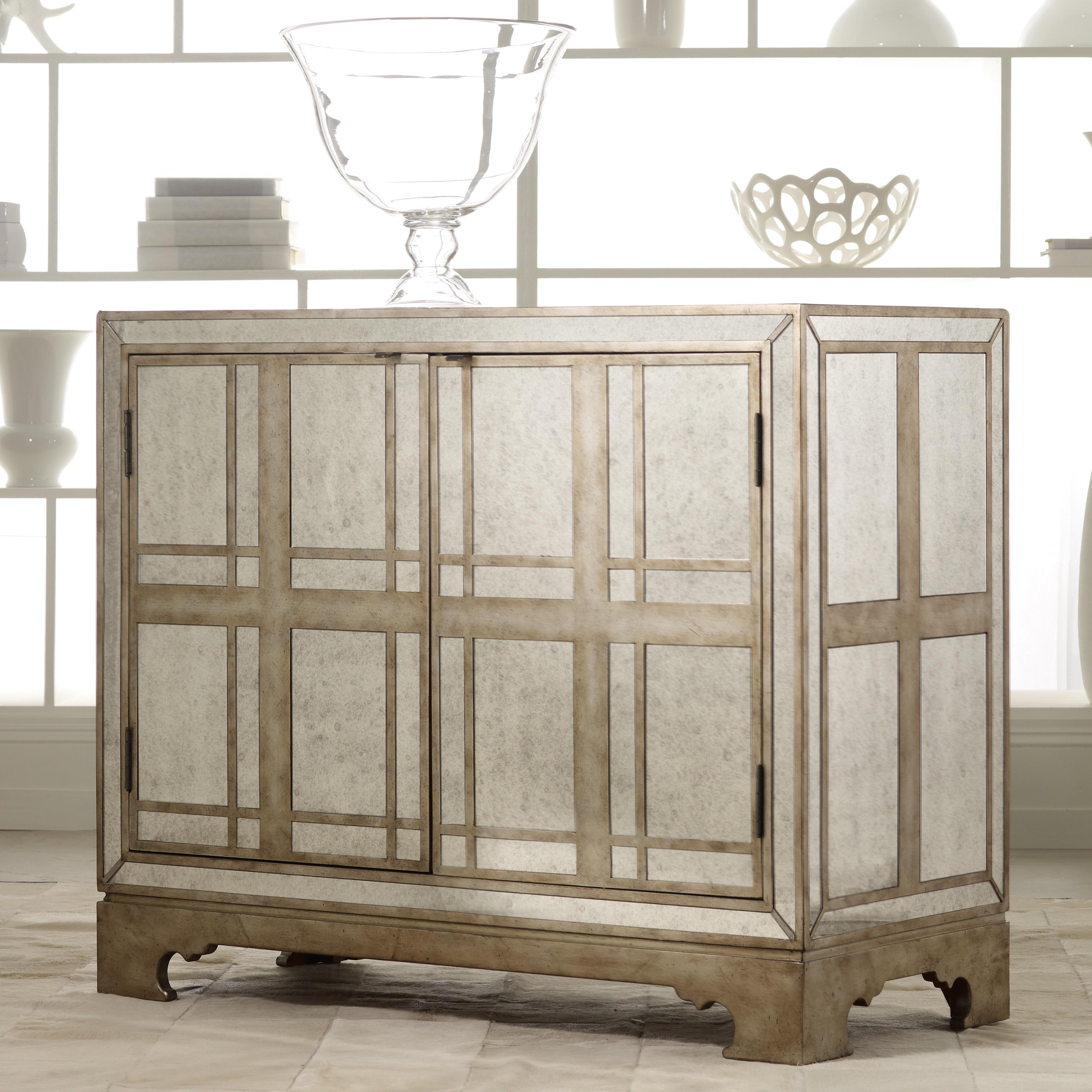 Hooker Furniture Mélange Mirrored Plaid Chest - Item Number: 638-85054