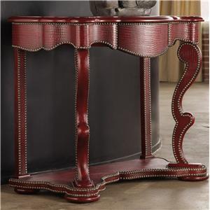 Hooker Furniture Mélange Red Croc Console
