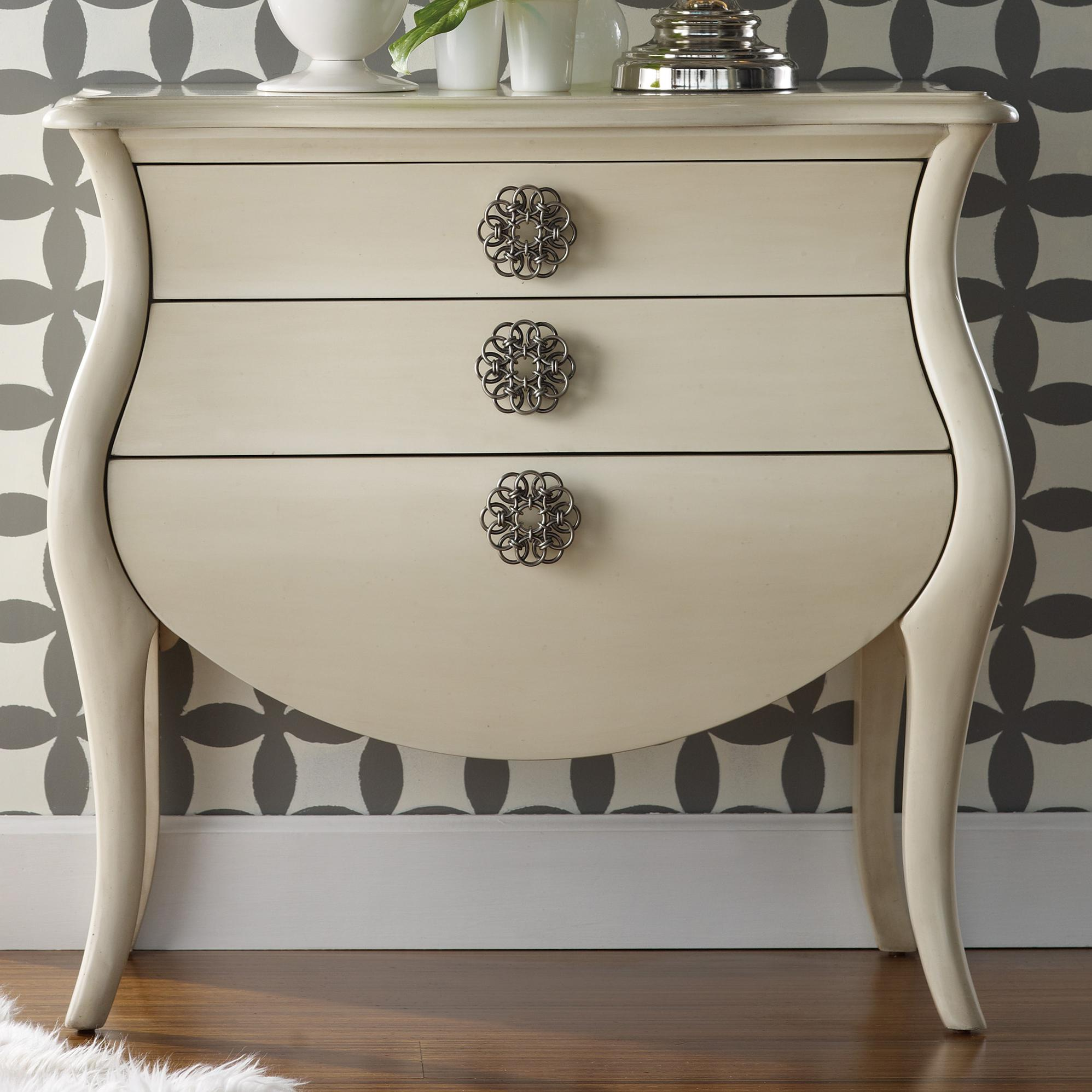 Hooker Furniture Mélange 3 Drawer Pippa Bombe Chest AHFA Chest