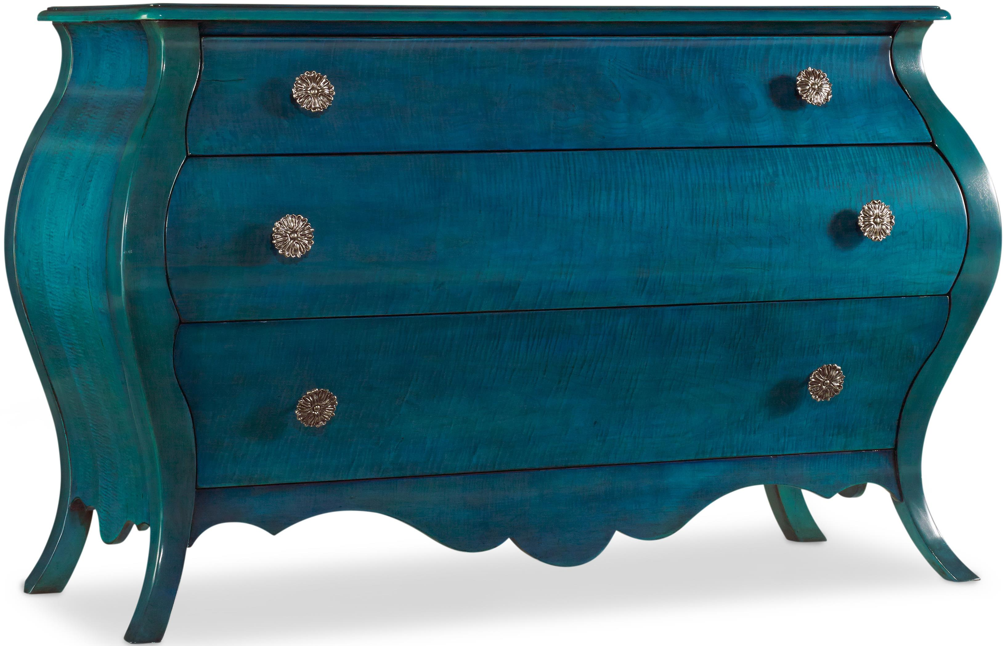 Hooker Furniture Mélange Turquoise Nina Bombe Chest - Item Number: 638-85171