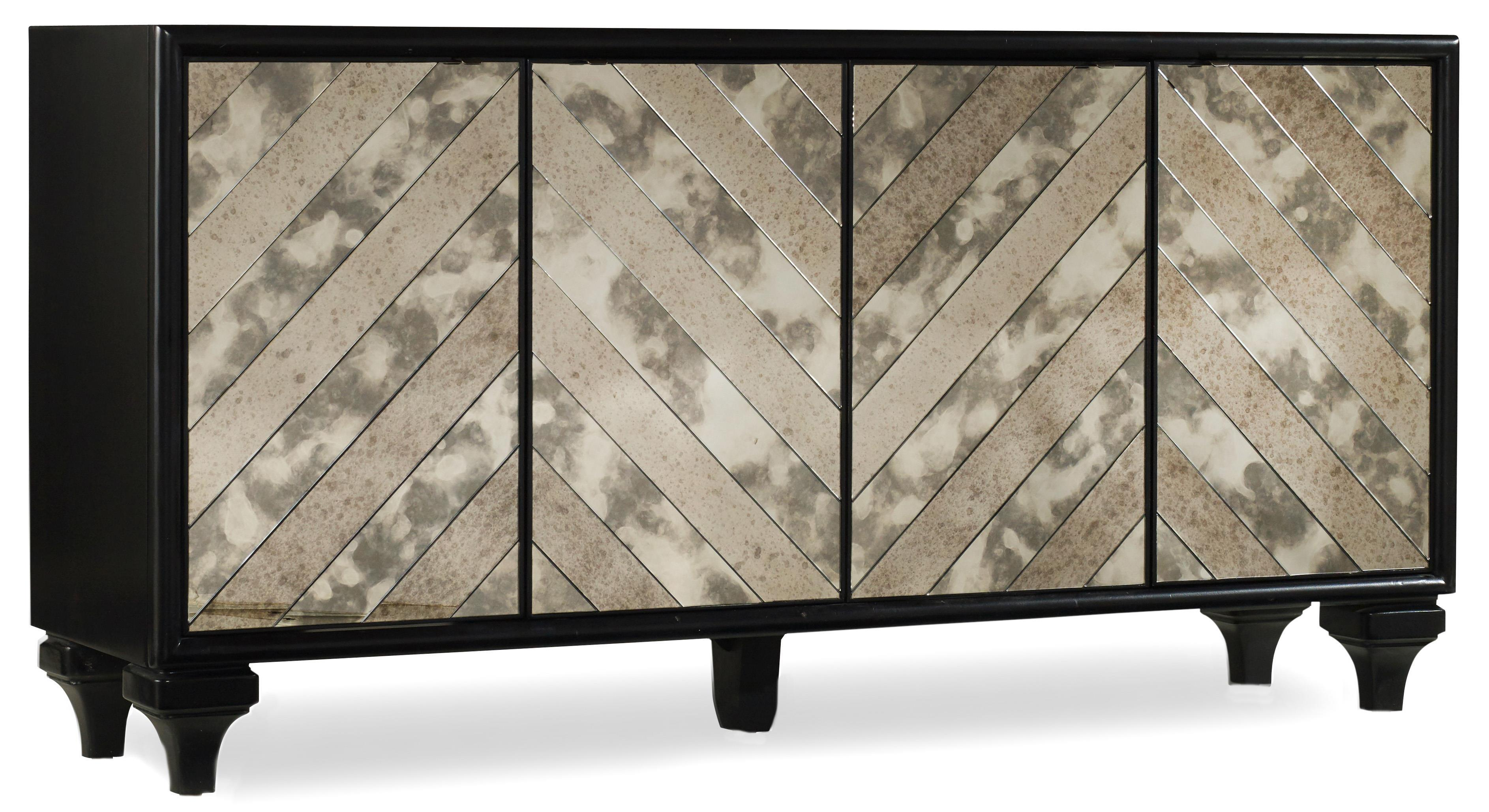 Hooker Furniture Mélange Mirrored Angle Console - Item Number: 638-85176