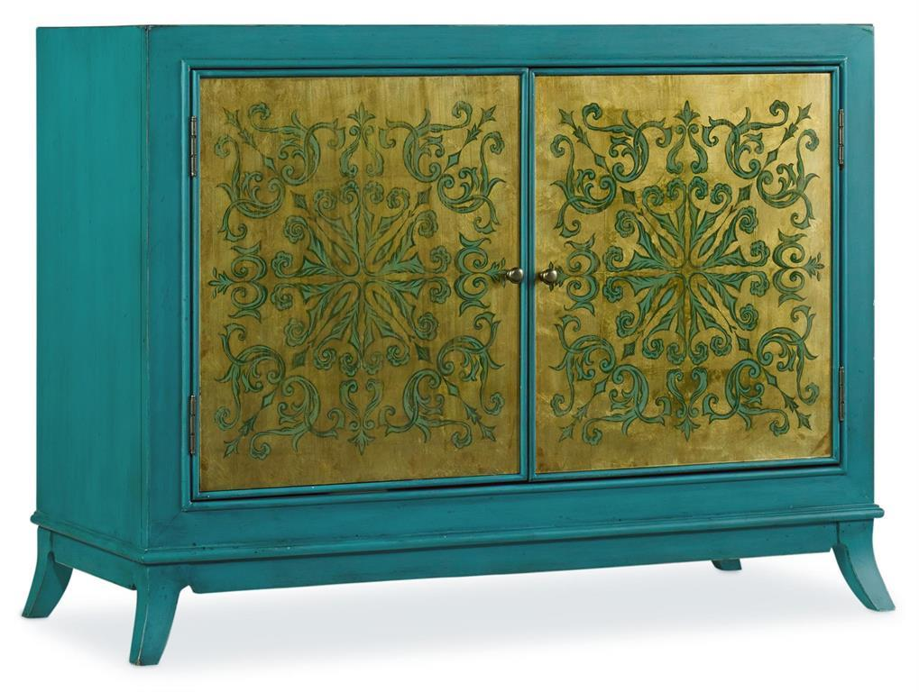 Hooker Furniture Mélange Turquoise and Gold Chest - Item Number: 638-85177