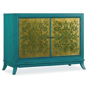 Hooker Furniture Mélange Turquoise and Gold Chest
