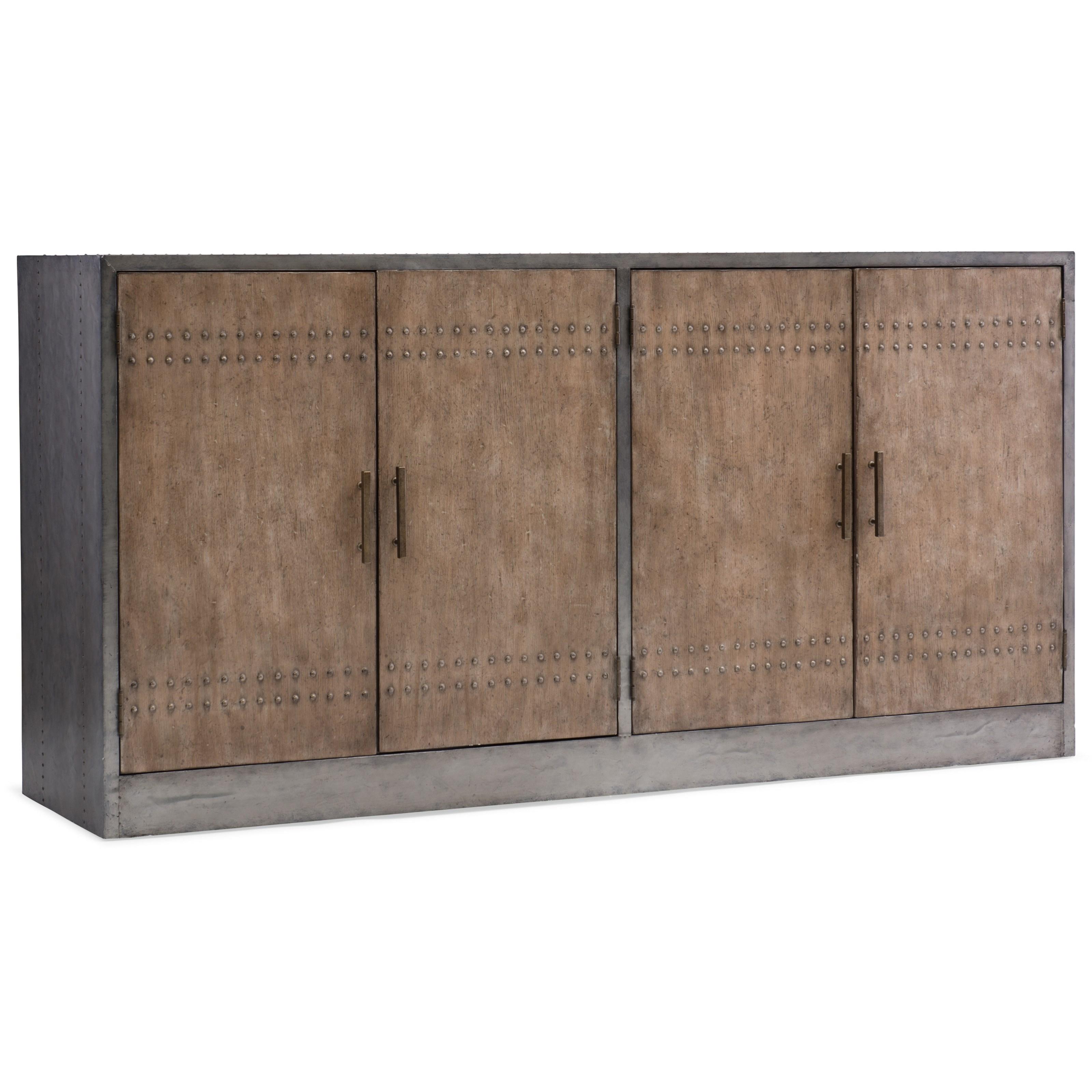 Mélange Cooper Four-Door Credenza by Hooker Furniture at Stoney Creek Furniture