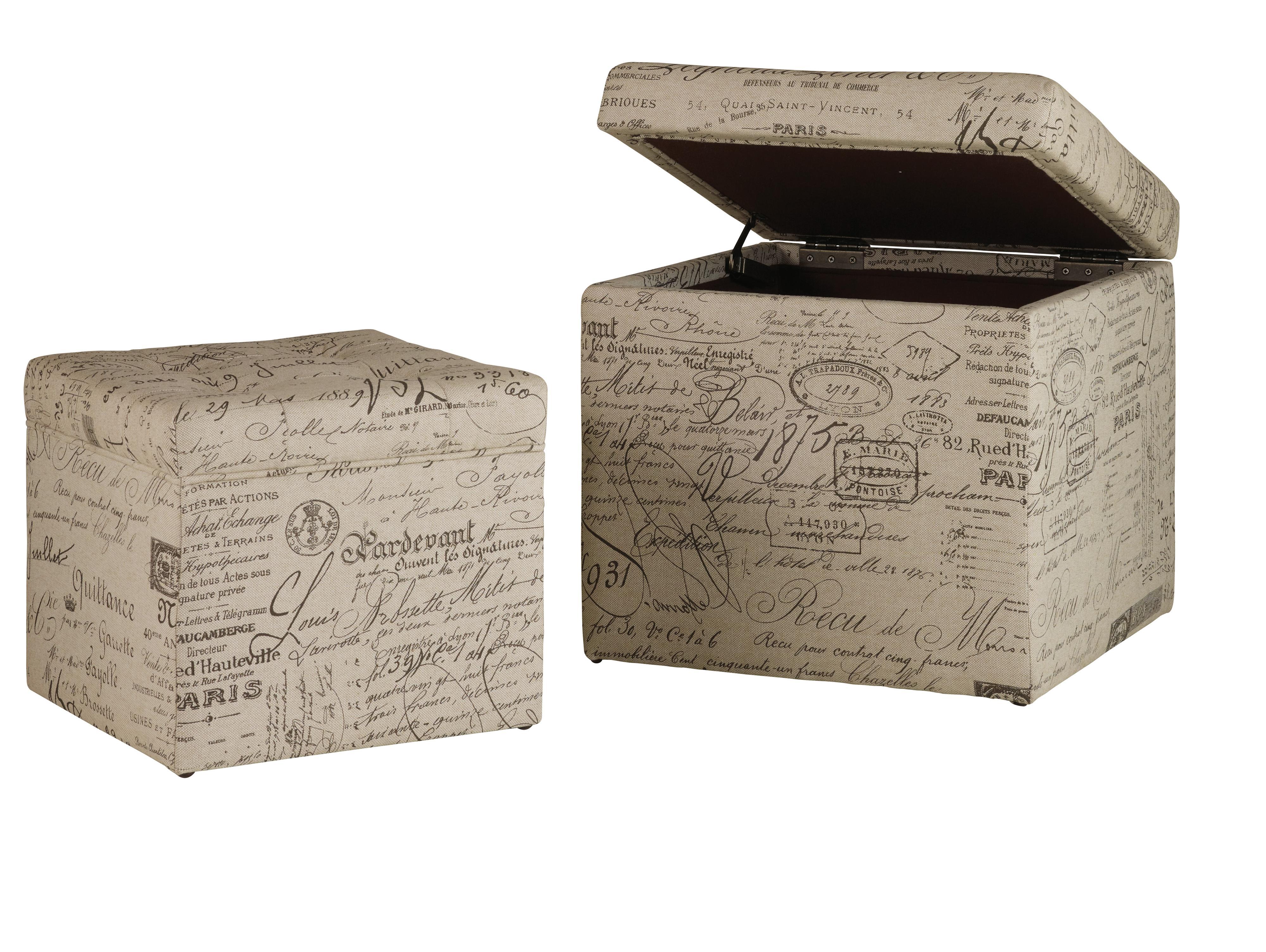 Hooker Furniture Mélange Joli Nesting Ottomans - Item Number: 641-36003