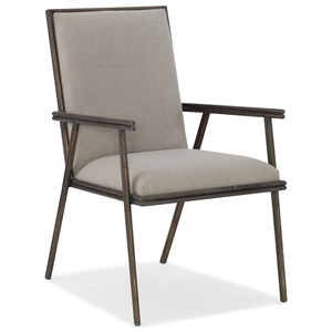 Hooker Furniture Miramar - Carmel Fairview Metal Upholstered Arm Chair