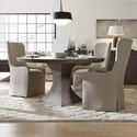 Hooker Furniture Miramar Aventura 4 Piece Table and Chair Set - Item Number: 6202-75203-DKW+3x75500-DKW