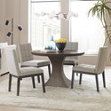 Hooker Furniture Miramar Aventura 5 Piece Table and Chair Set - Item Number: 6202-75213-DKW+4x75410-DKW