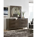 Hooker Furniture Miramar Aventura Dresser and Mirror Set - Item Number: 6202-90002-DKW+90006-DKW