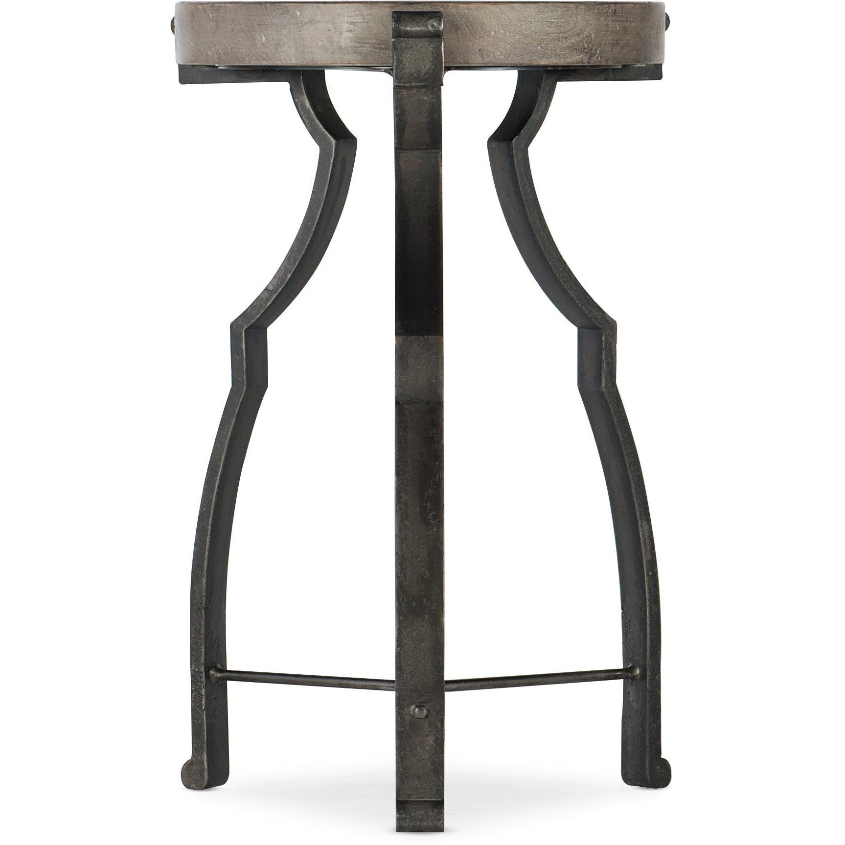 Beau Modele Relaxed Vintage Round End Table With Glass Top By Hooker Furniture