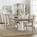 Hooker Furniture Modern Romance Nine Piece Dining Set - Item Number: 1652-75206-MWD+6x410-MWD+2x400-MWD