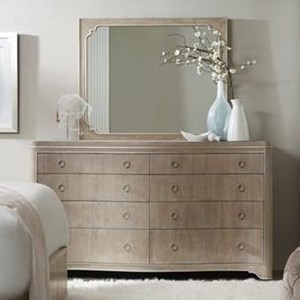 Eight-Drawer Dresser and Mirror Set