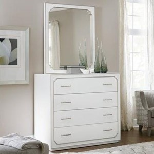 Four-Drawer Bureau and Mirror Set