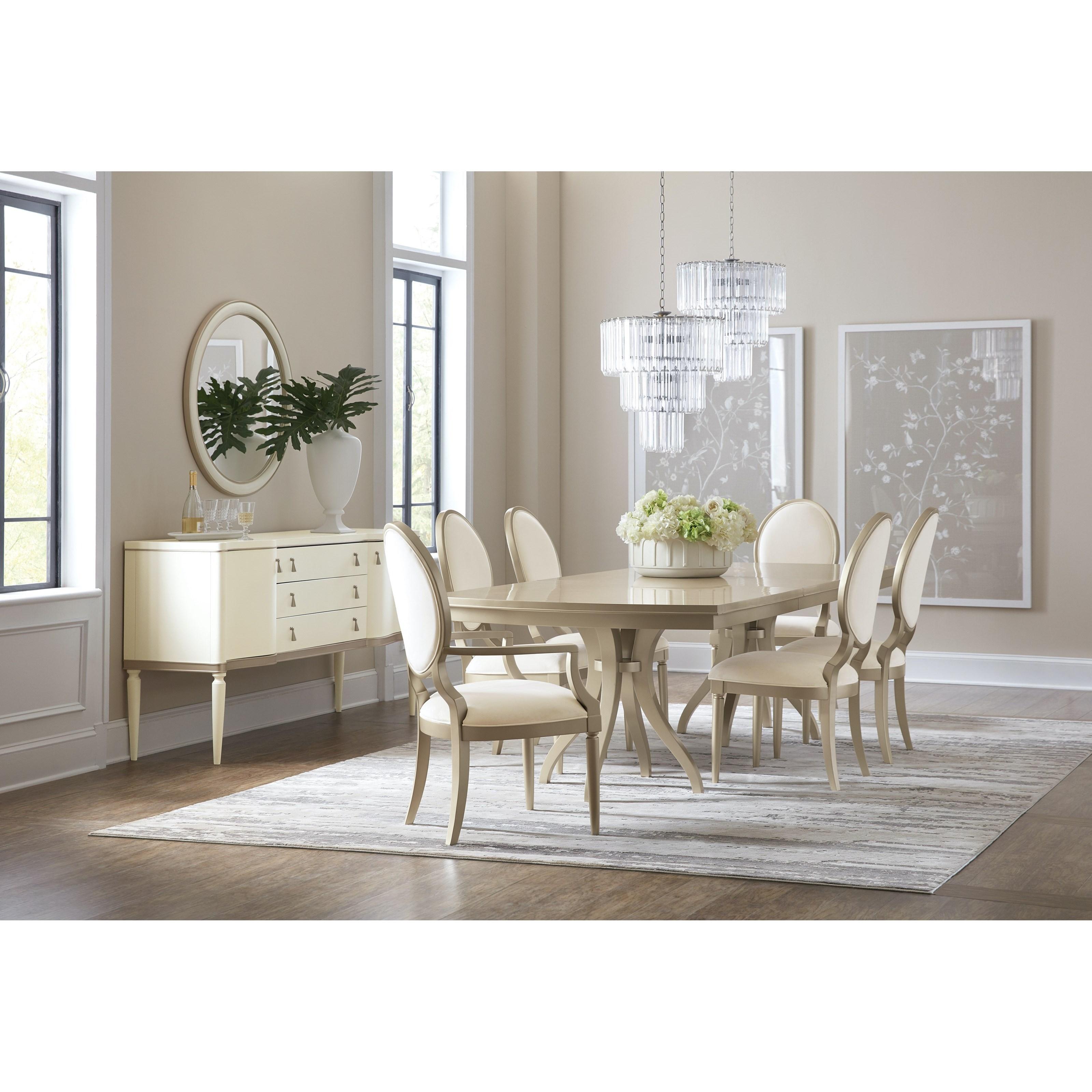 Monique Formal Dining Room Group by Hooker Furniture at Baer's Furniture
