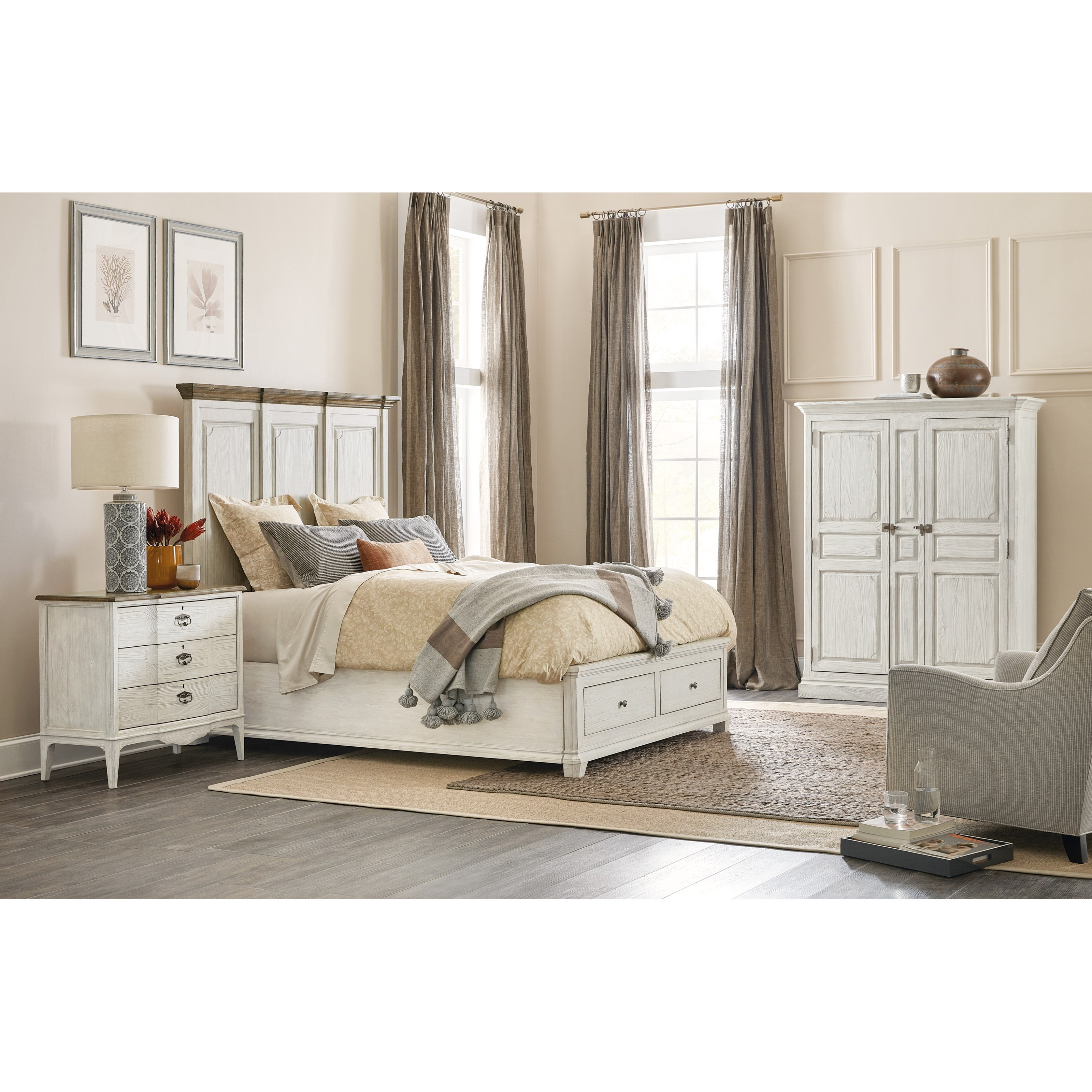 Montebello Queen Bedroom Group by Hooker Furniture at Story & Lee Furniture
