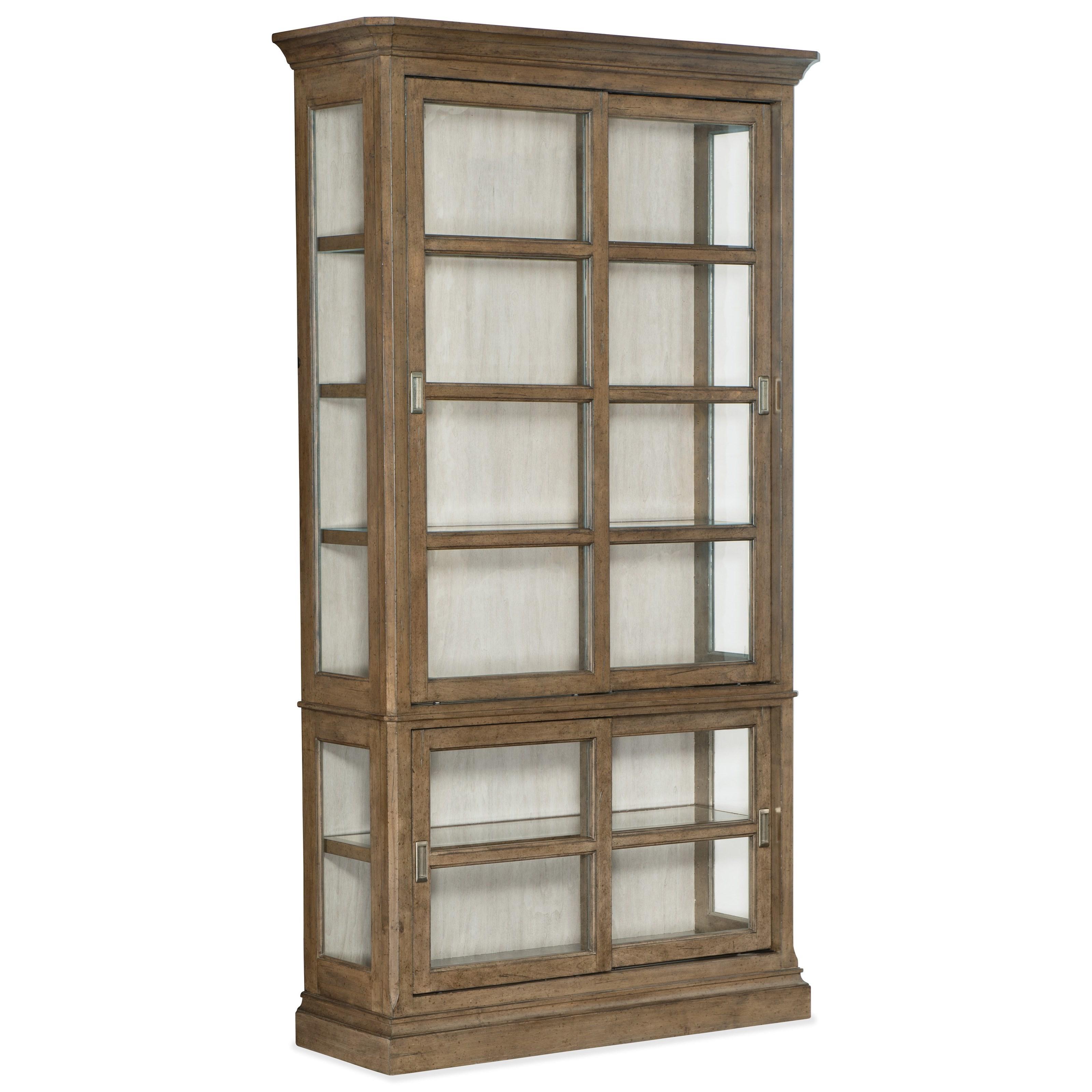 Montebello Sliding Door Display Cabinet by Hooker Furniture at Stoney Creek Furniture