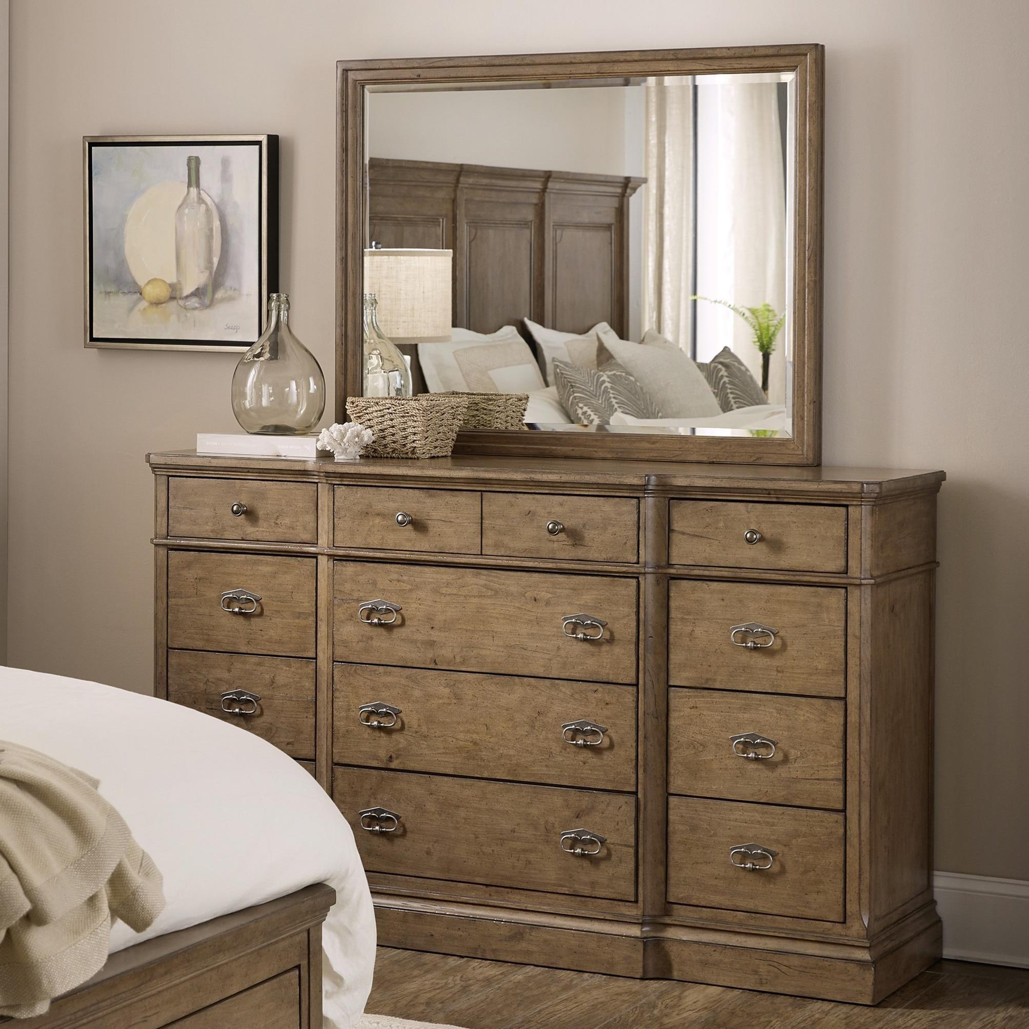 Montebello Dresser + Mirror Set by Hooker Furniture at Stoney Creek Furniture