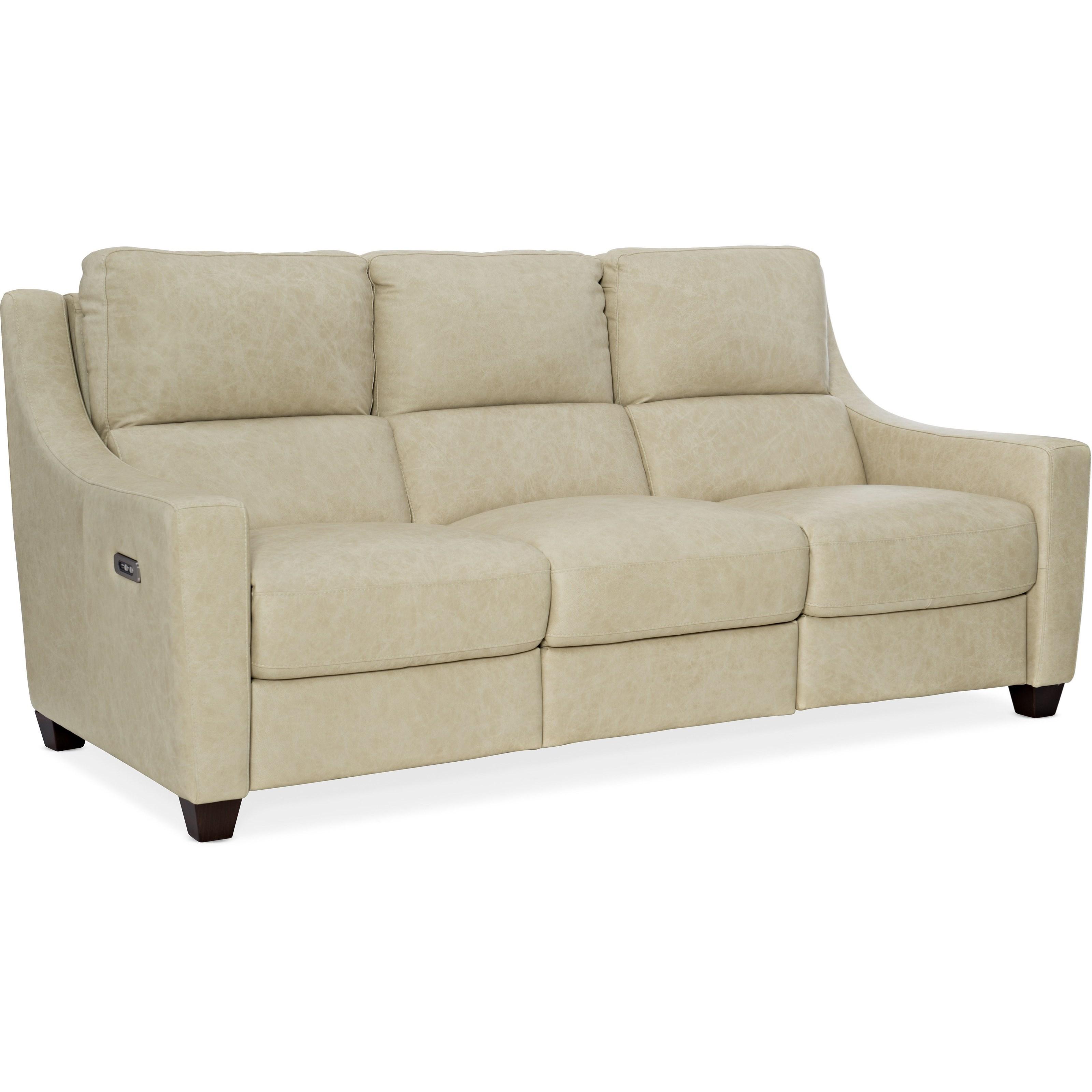 Leather Power Sofa w/ Power Headrest