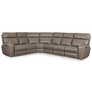 Hooker Furniture Mowry 4 PC Pwr Motion Sectional w/ Pwr Hdrest
