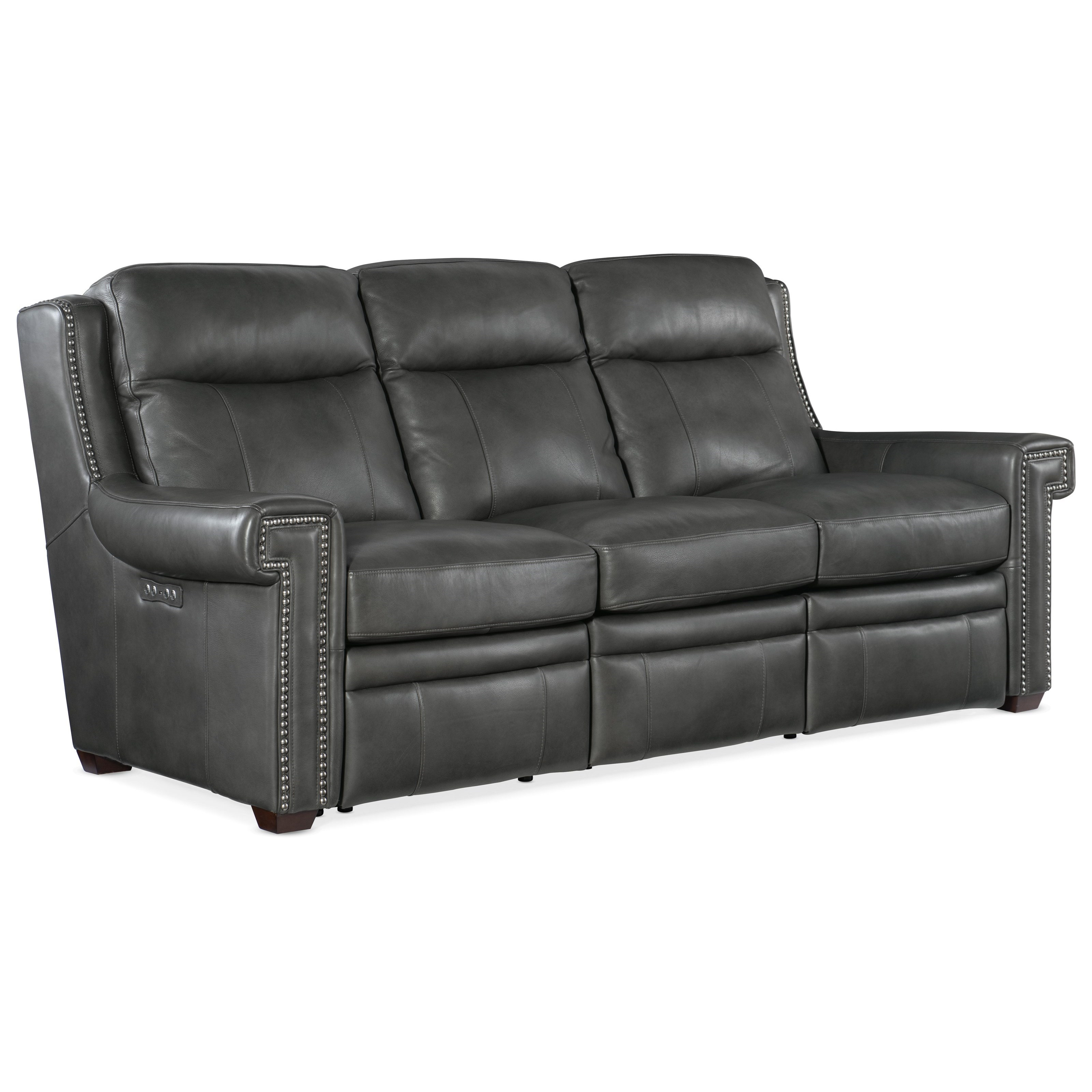 Mulberry Power Reclining Sofa w/ Power Headrests by Hooker Furniture at Baer's Furniture
