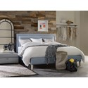 Hooker Furniture Nest Theory Finch 62in King Upholstered Bed