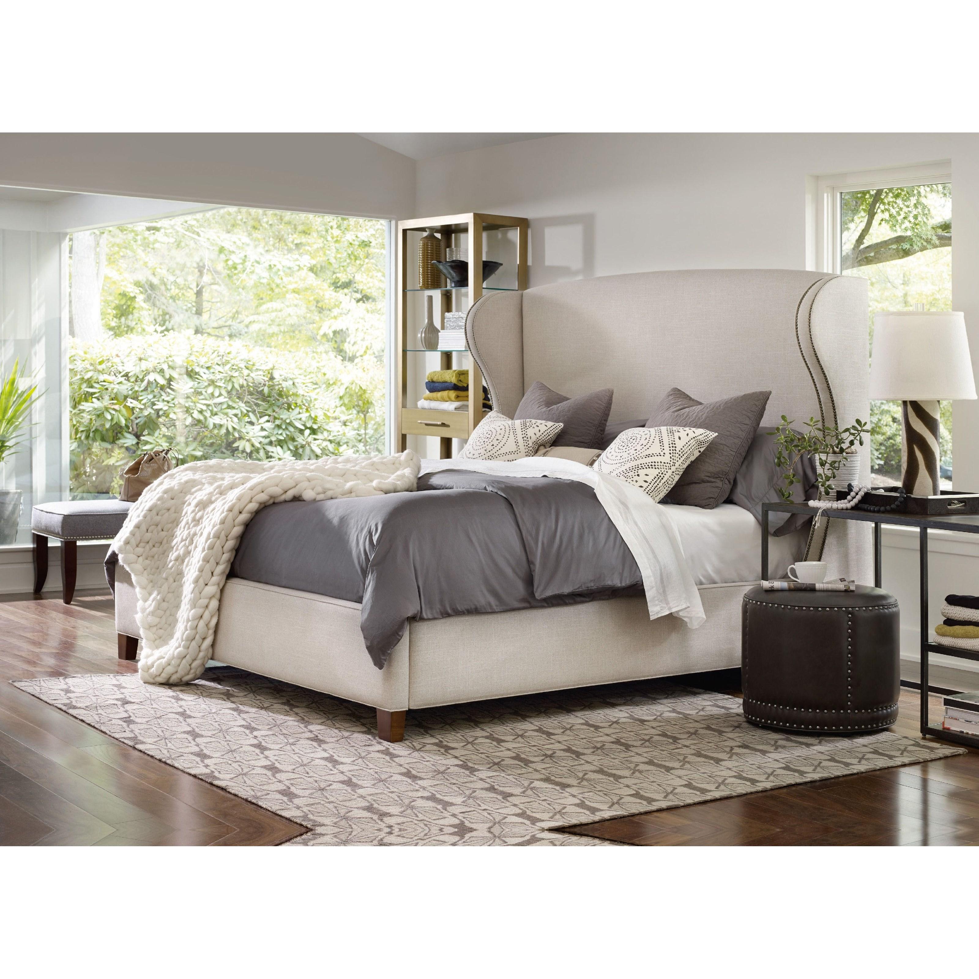 Hooker Furniture Nest Theory Heron 52in California King Upholstered Bed Jacksonville Furniture