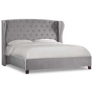 Hooker Furniture Nest Theory Heron Tufted 52in Queen Upholstered Bed