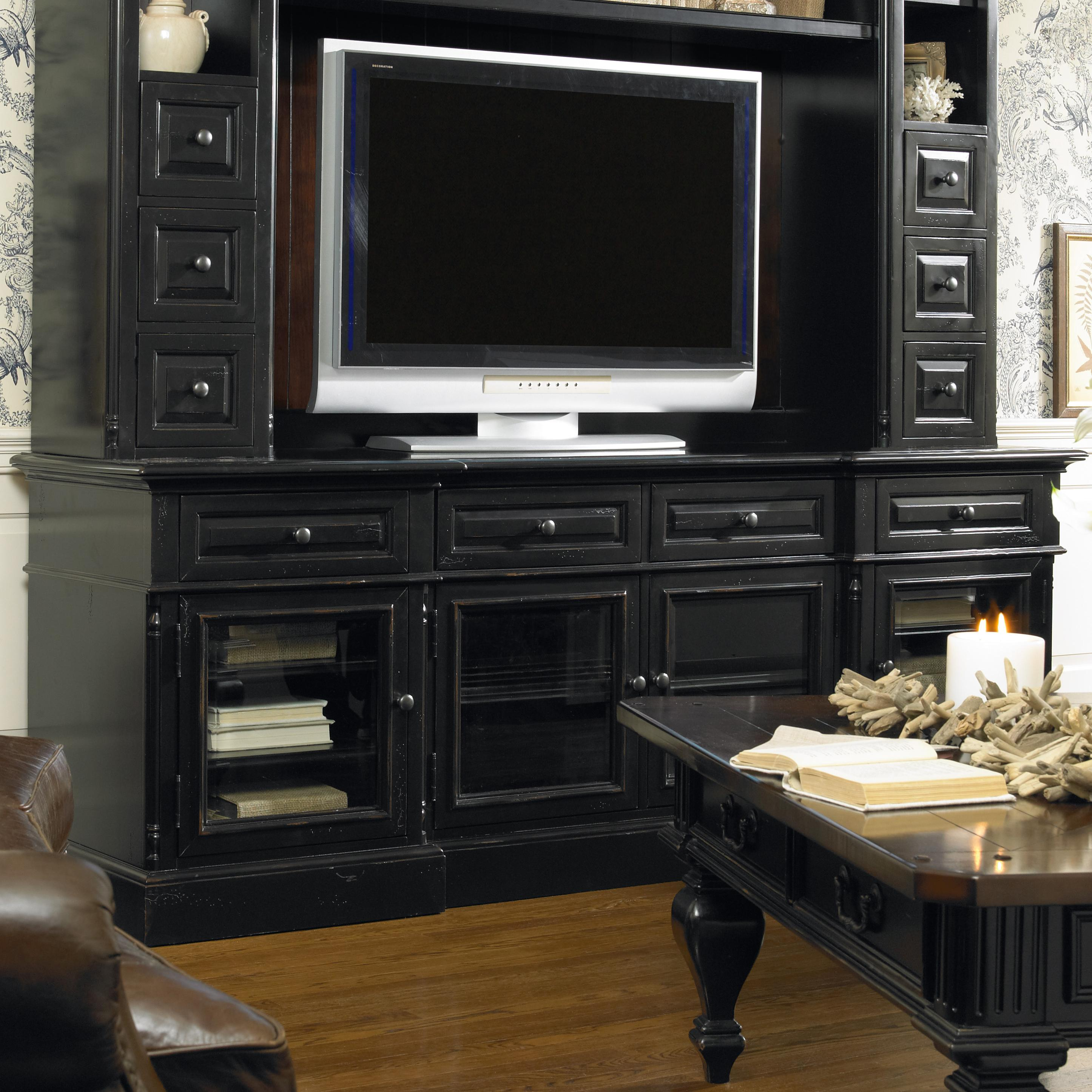 hooker furniture new castle ii entertainment console with 4 doors