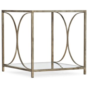 Wavecrest Metal and Glass End Table