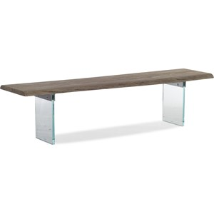 Dining Bench with Glass Legs