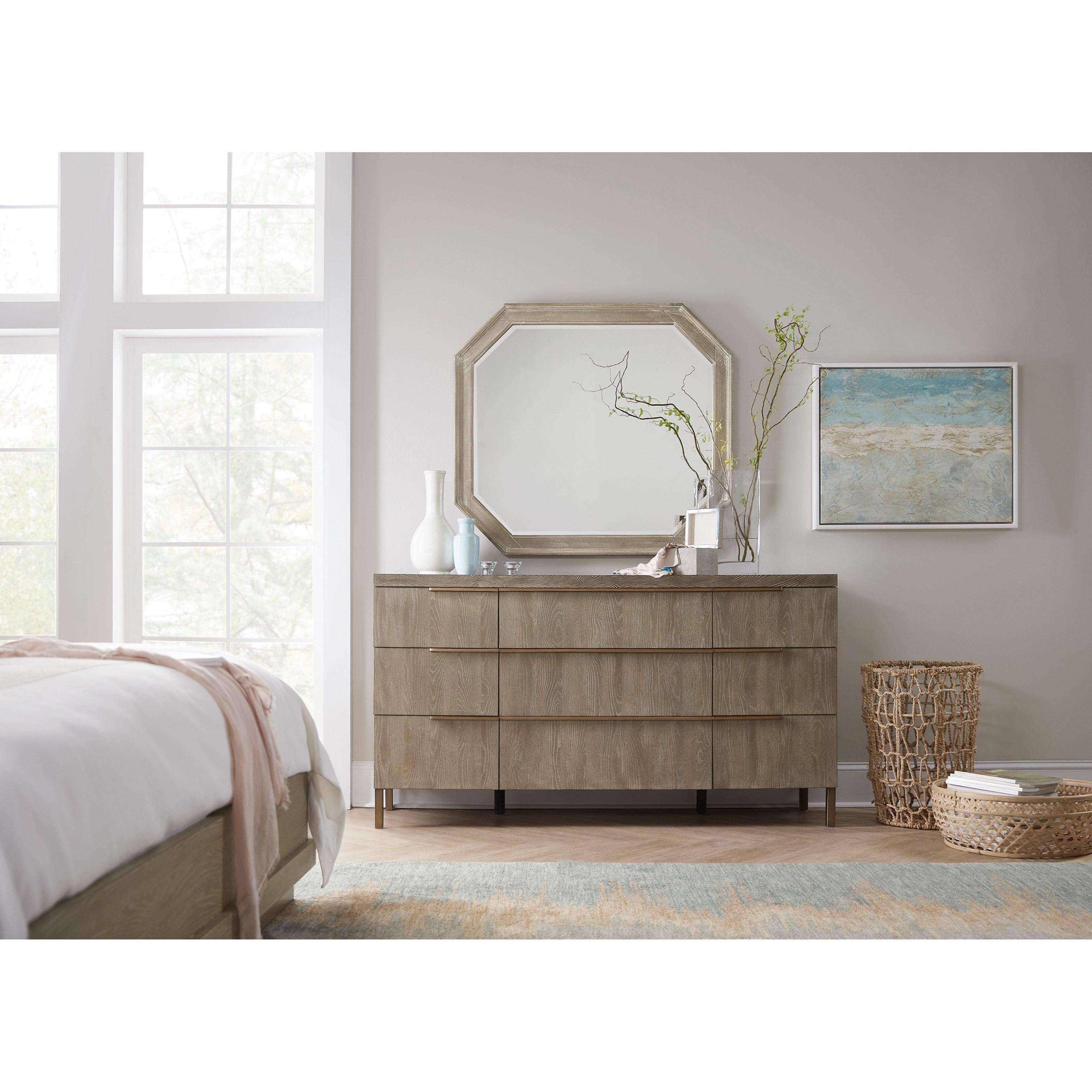 Hooker Furniture Pacifica 6075 90007 Ltwd Octagonal Mirror