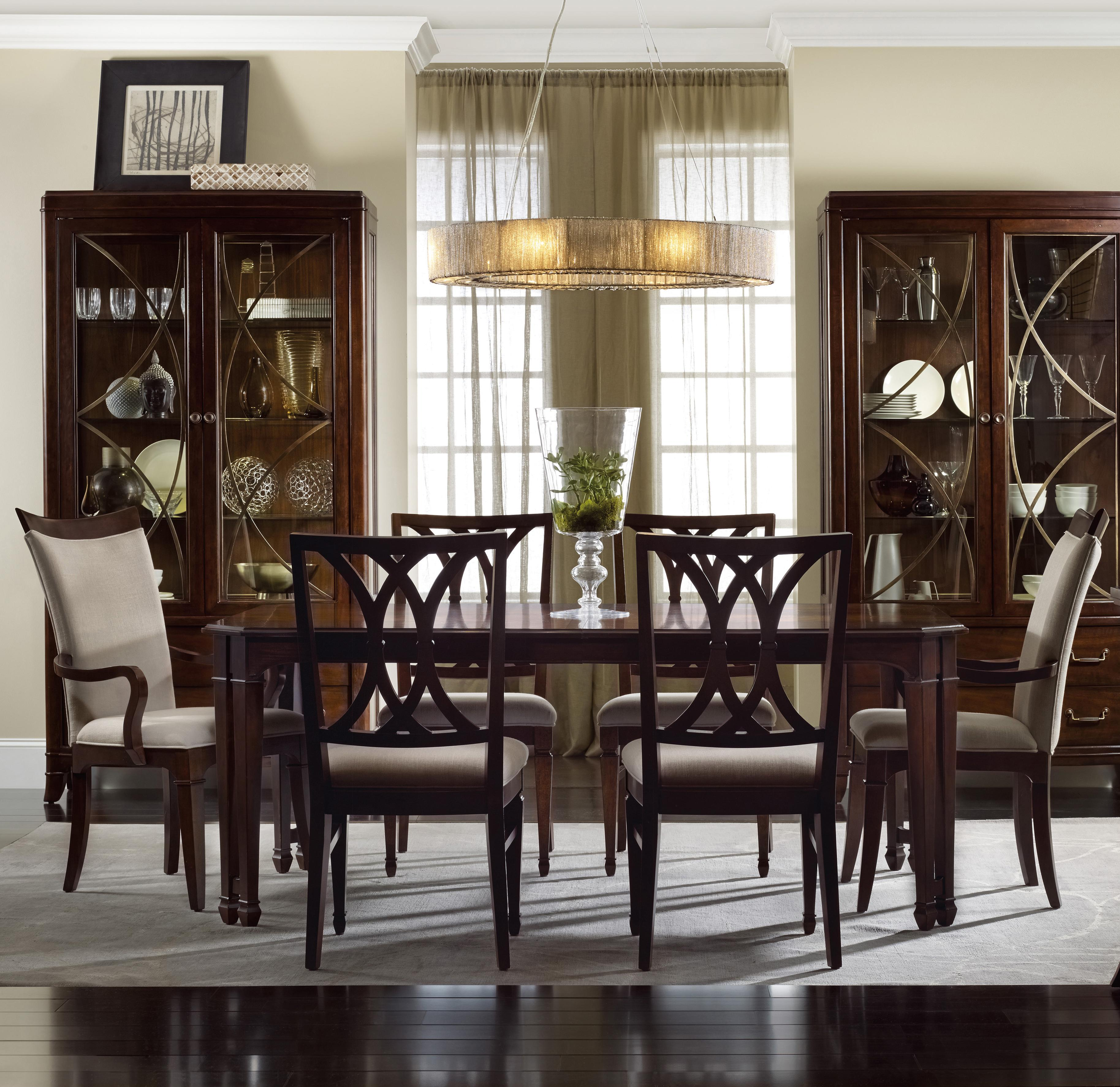 Palisade 7 Piece Dining Set by Hooker Furniture at Adcock Furniture