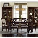 Hooker Furniture Palisade 7 Piece Dining Set - Item Number: 5183-75200+2x400+4x310