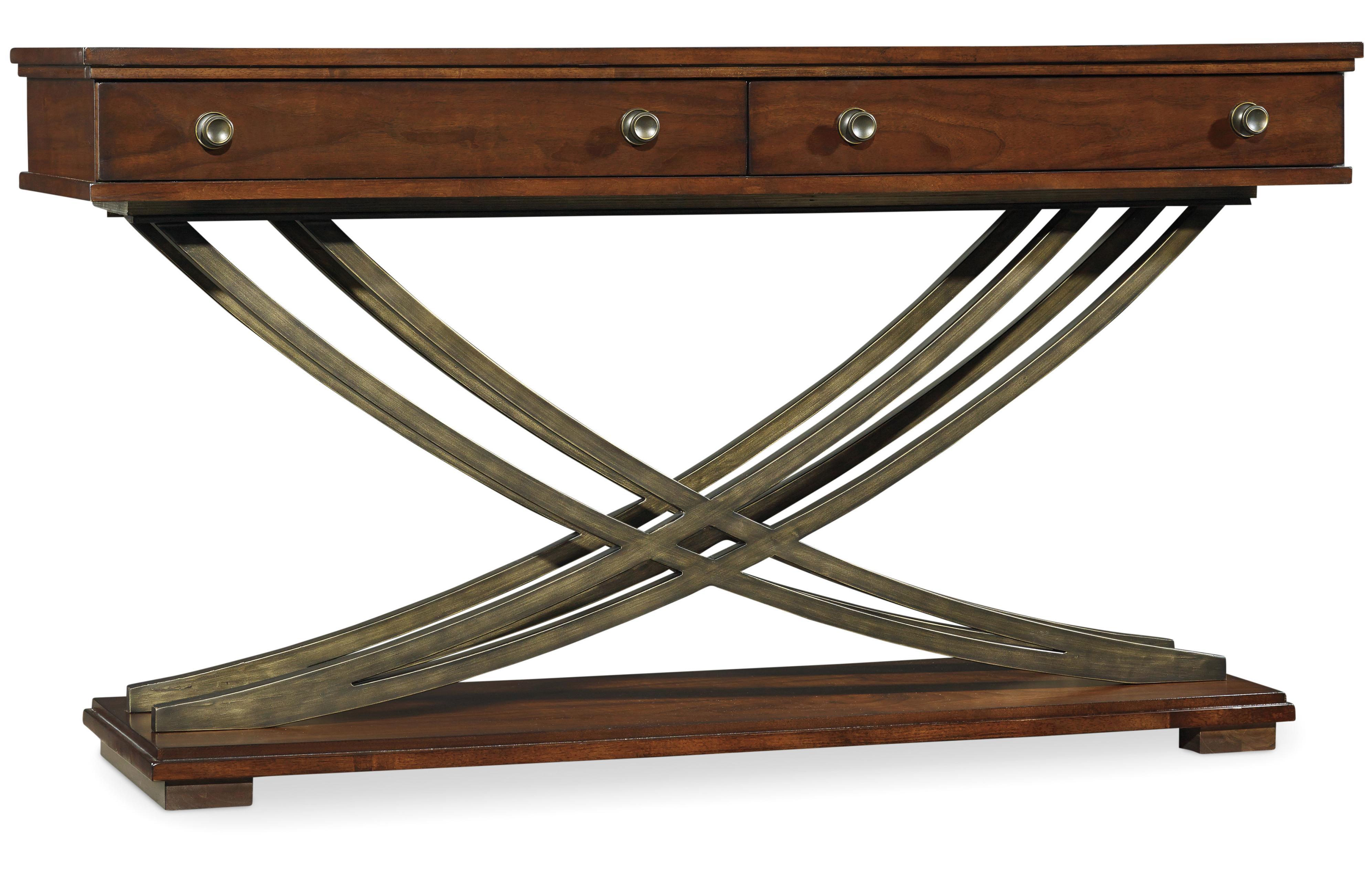 Palisade Cross Base Sofa Table by Hooker Furniture at Stoney Creek Furniture