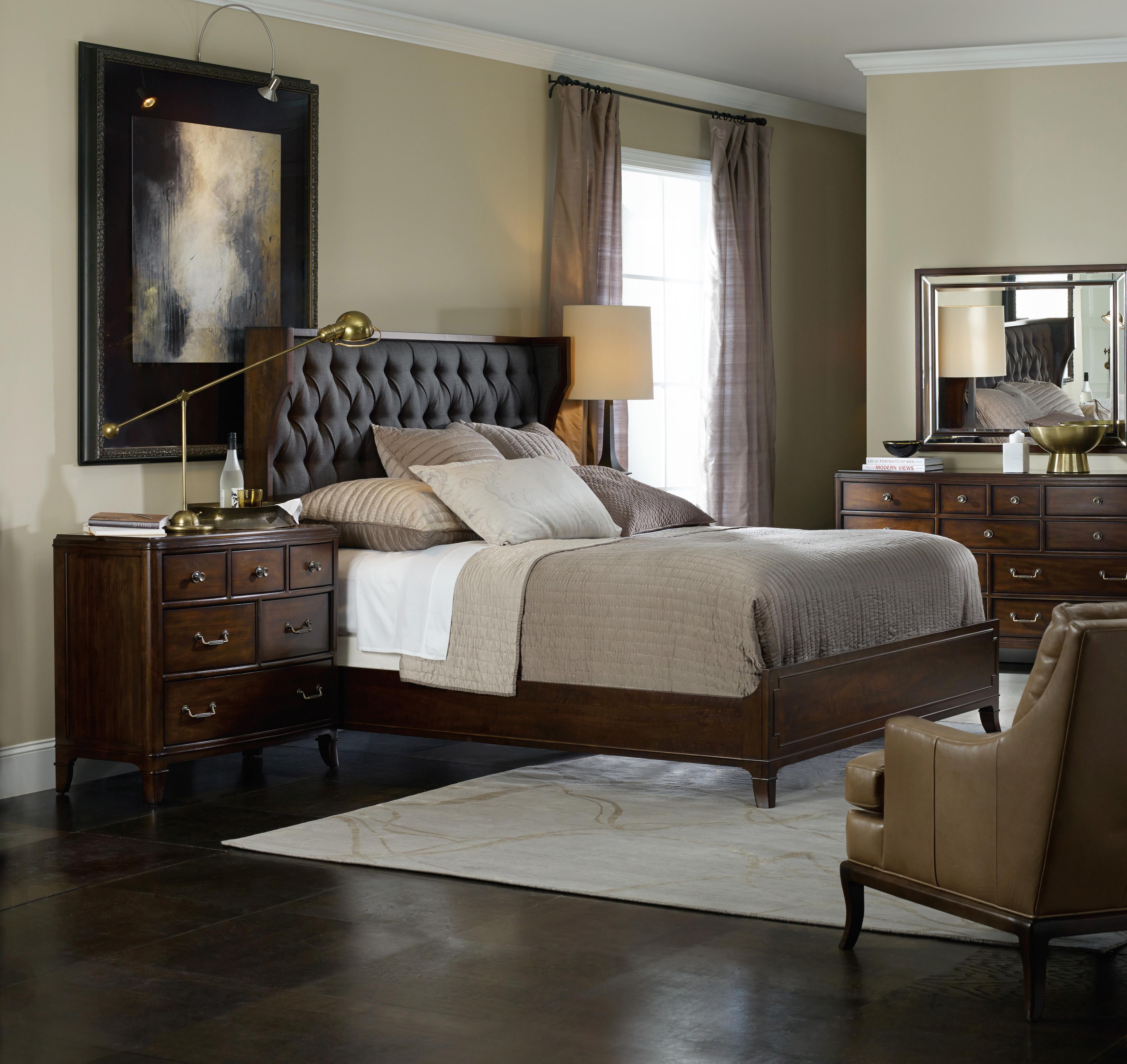 Hooker Furniture Palisade King Upholstered Shelter Bed
