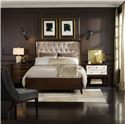 Hooker Furniture Palisade King Upholstered Shelter Bed with Diamond Tufting