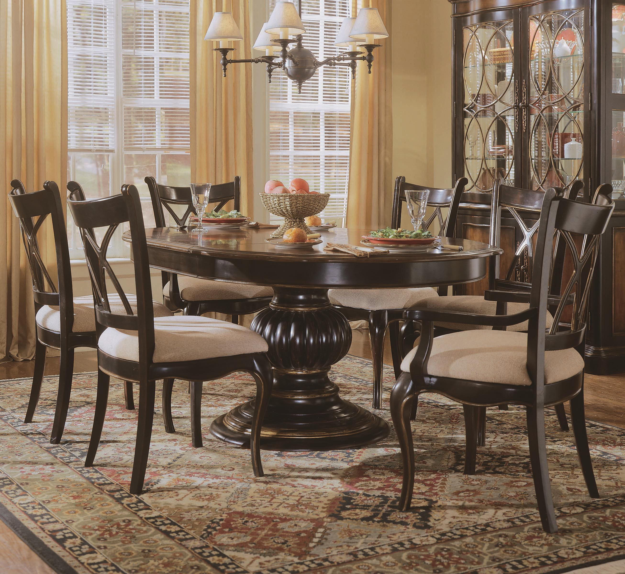 Hooker Furniture Preston Ridge Table and Chair Set - Item Number: 864-75-201+2x400+4x410