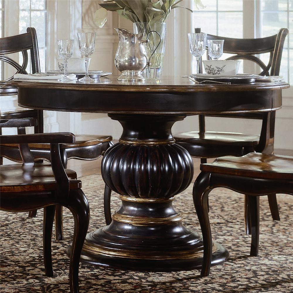 hooker round dining table round pedestal kitchen table Preston Ridge Pedestal Dining Table by Hooker Furniture Hooker Furniture Preston Ridge Pedestal Dining Table