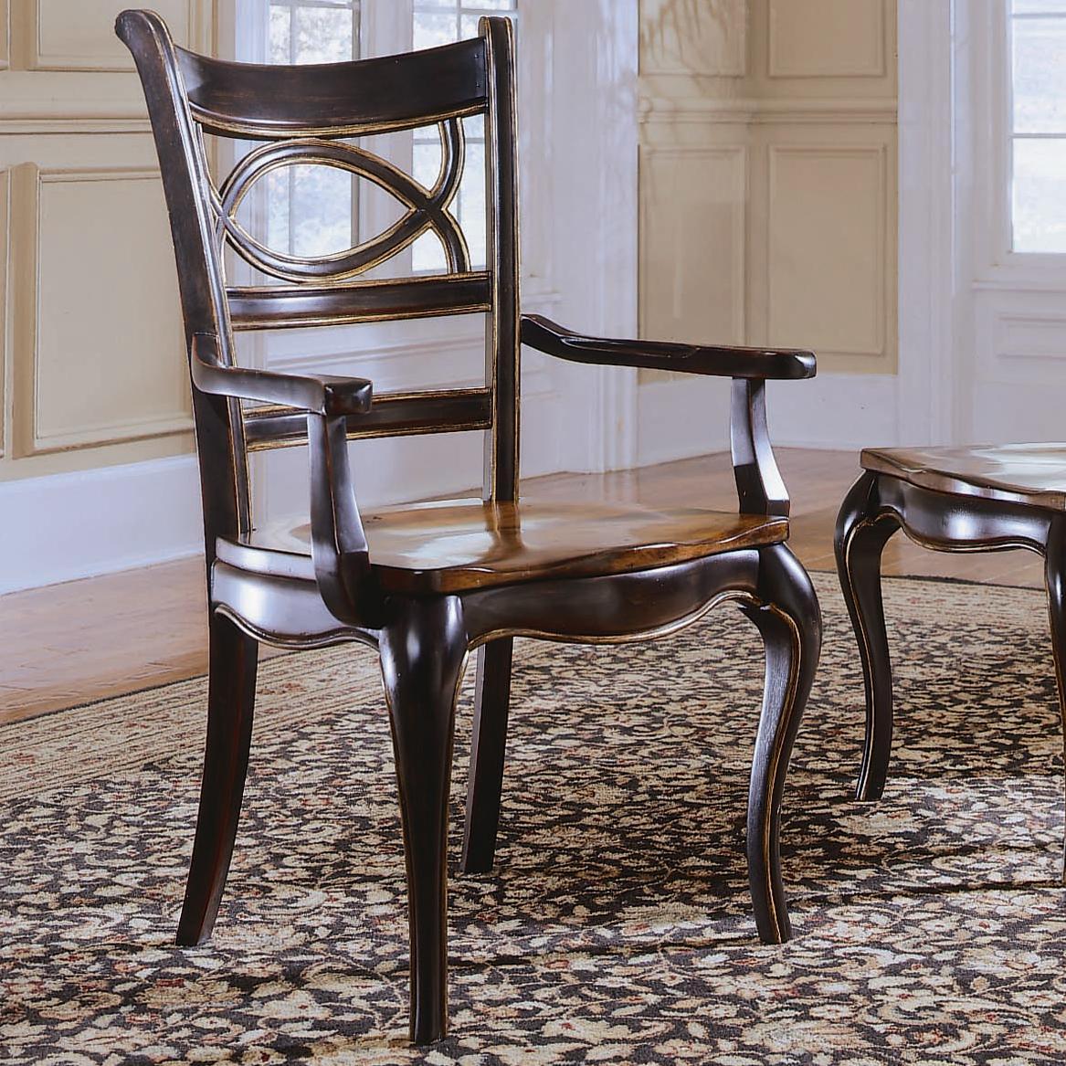Hooker Furniture Preston Ridge Oval Back Dining Arm Chair - Item Number: 864-75-300