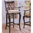 Hooker Furniture Preston Ridge Double X Back Counter Stool with Cushion - Image Shown May Not Represent Height Indicated