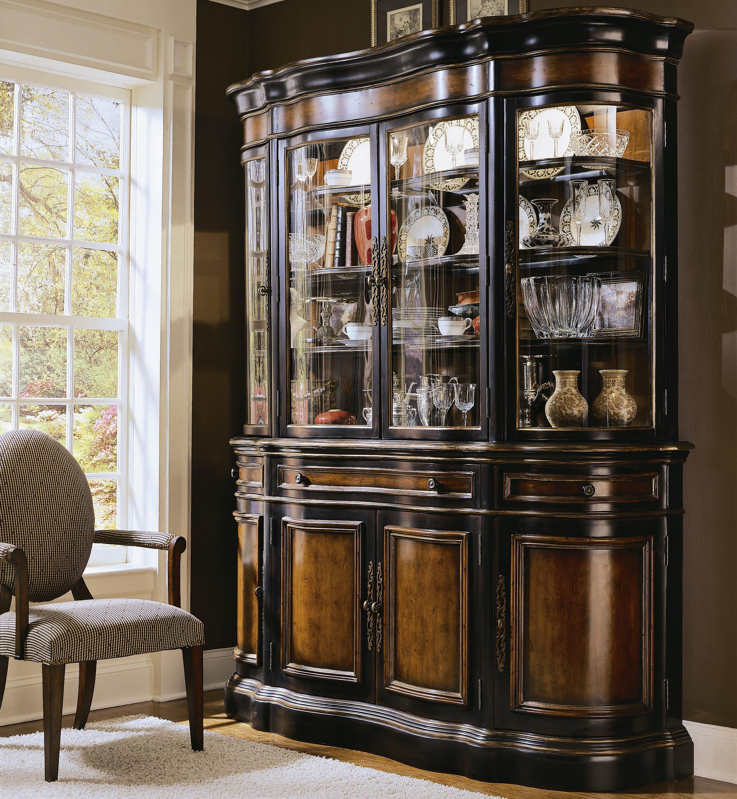 Hooker Furniture Preston Ridge Buffet And Hutch China Cabinet   AHFA    China Cabinet Dealer Locator